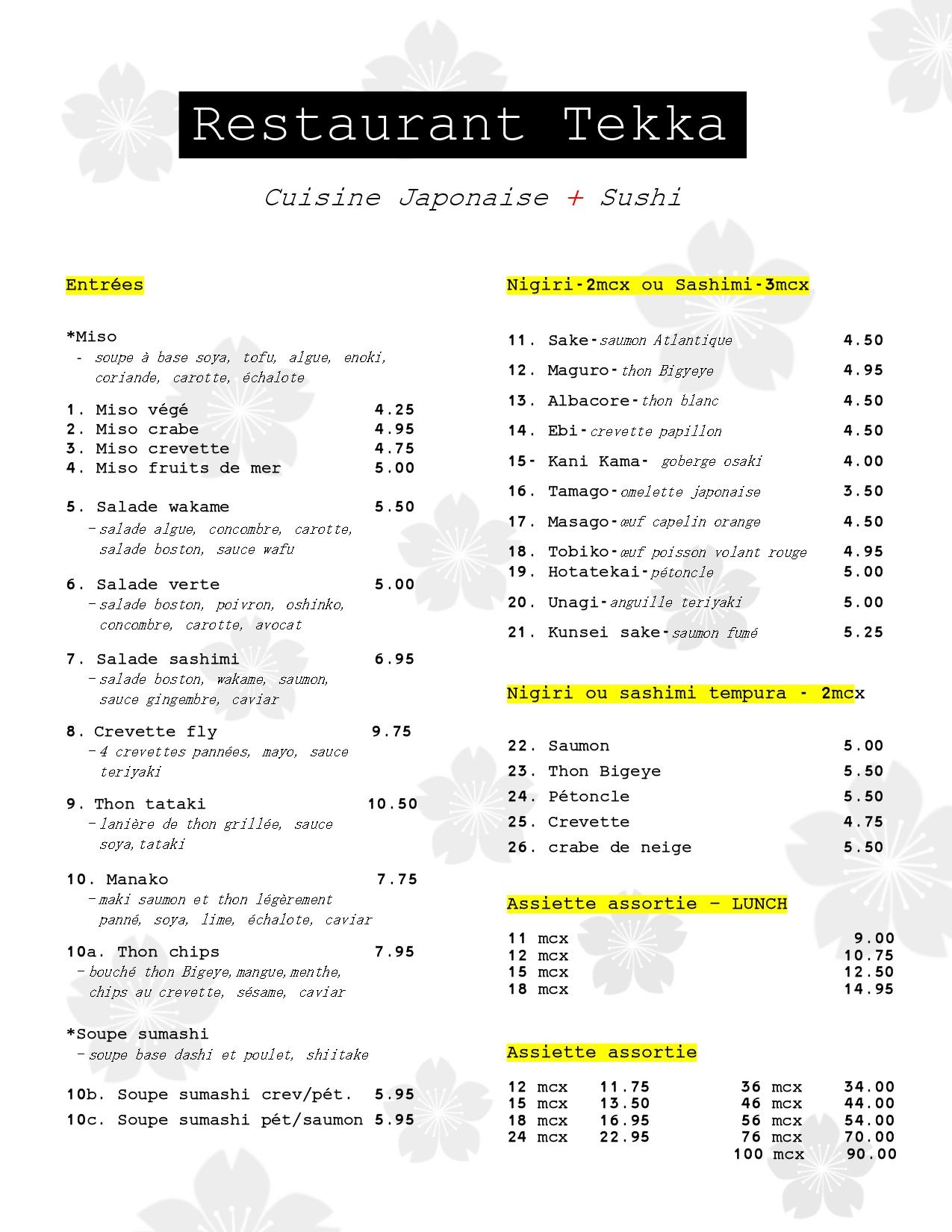 Tekka Sushi page 1